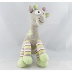 Doudou Girafe bleu Arthur et Lola
