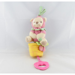 Doudou musical Ours fraise Nature Bearries Fisher Price