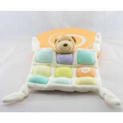 Doudou plat ours candies candy couleur pastel KALOO