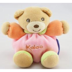 Mini doudou ours rose fleur KALOO