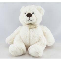 Doudou peluche ours blanc HISTOIRE D'OURS