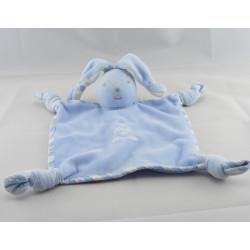 Doudou plat lapin robe bleu TARTINE ET CHOCOLAT