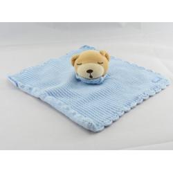 Doudou patapouf ours bleu blue laine KALOO