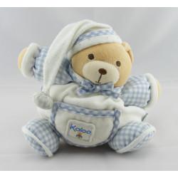 Doudou ours patapouf vichy bleu KALOO