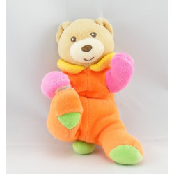 Mini doudou ours rose orange vert KALOO