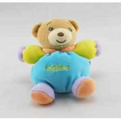 Mini Doudou ours bleu vert mauve KALOO