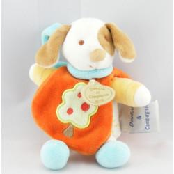 Doudou et compagnie chien Hector orange avec gland