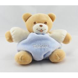 Doudou petit ours boule mauve violet TAKINOU