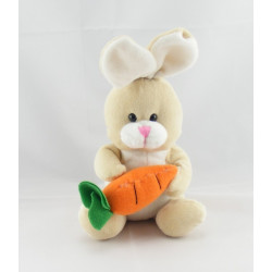 Doudou plat bleu vert lapin carotte SIPLEC