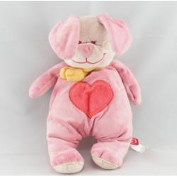 Doudou lapin rose coeur TEX