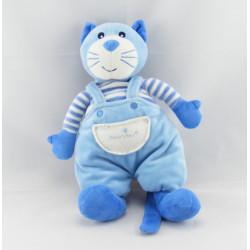 Doudou chat rayé bleu BOUT'CHOU BOUTCHOU