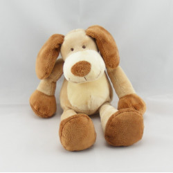 Doudou chien beige marron NICOTOY 22 cm