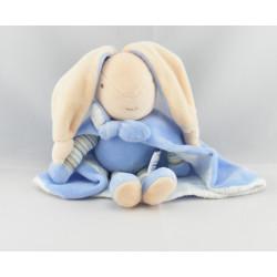 Doudou lapin bleu Super Doudou AJENA
