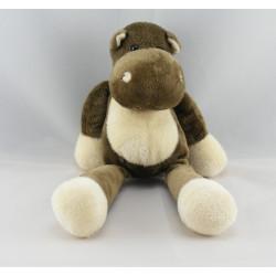 Doudou hippopotame marron NICOTOY