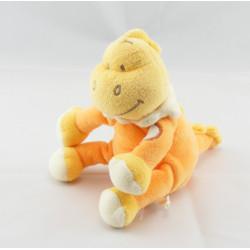 Doudou  dinosaure jaune orange BENGY