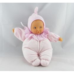 Doudou bébé poupée Baby Pouce rayé rose COROLLE 1997