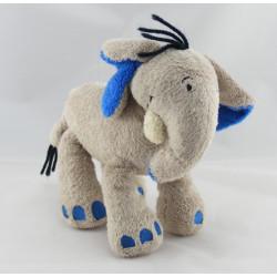 Doudou éléphant beige bleu ORCHESTRA