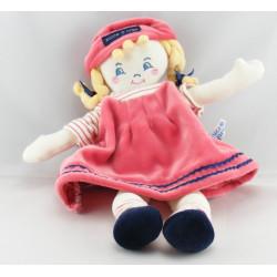 Doudou fille fillette robe bordeaux Sucre d'orge