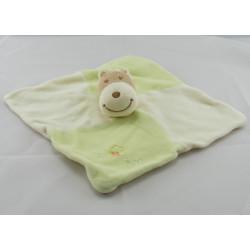 Doudou girafe robe verte foulard orange GERCA