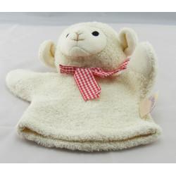 Doudou marionnette agneau mouton écru NICOTOY