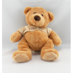 Doudou ours brun pull beige marron BABY NAT