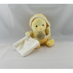 Doudou poussin jaune coquille avec mouchoir BABY NAT