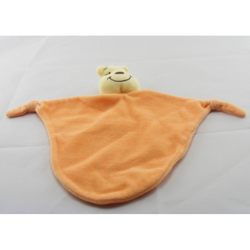 Doudou Plat Winnie l'Ourson orange Friend Disney