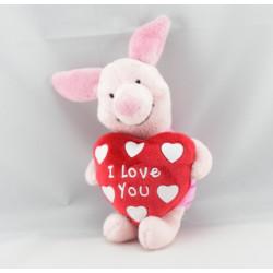 Doudou Porcinet coeur Je t'aime