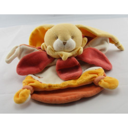 Doudou et compagnie plat lapin rouge orange maman pétale