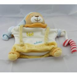 Doudou plat marionnette ours Noé sucreries BABY NAT