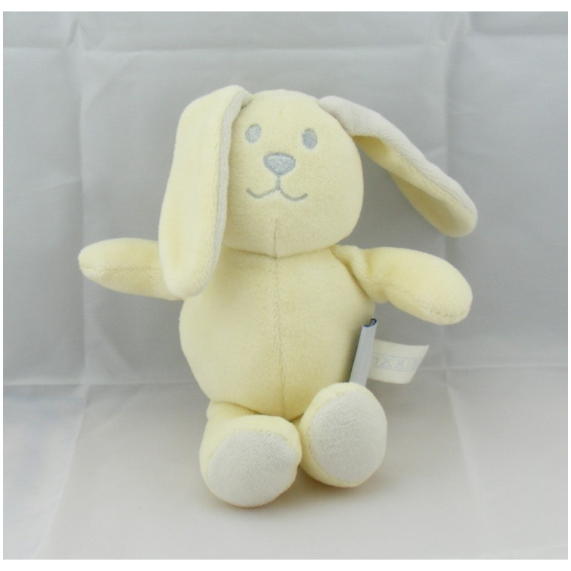 Doudou lapin chien jaune POMMETTE