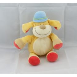 Doudou chien jaune chapeau bleu BENGY