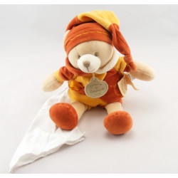 Doudou et compagnie ours noeuds orange cannelle pantin
