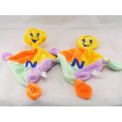 Doudou Nutriben losange multicolore avec noeuds