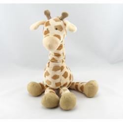 Doudou girafe beige marron JACADI