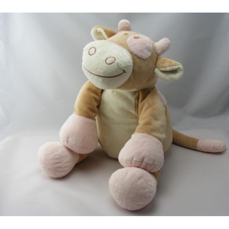 Doudou vache Lola Rosalie écharpe rose NOUKIE'S 35 cm