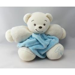 Doudou ours plume bleu blanc KALOO 1998