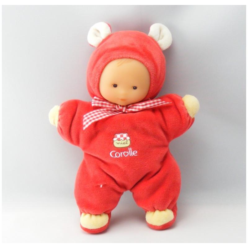Doudou Poupée bébé Miel Rouge COROLLE