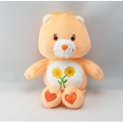 Peluche Bisounours orange coeur Grosbisous CARE BEARS