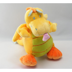 Doudou dragon jaune vert NICOTOY