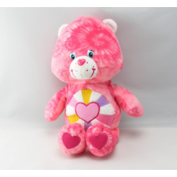 Peluche Bisounours rose Grosfarceur en lapin CARE BEARS