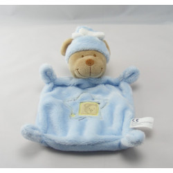 Doudou plat ours bleu étoile NICOTOY