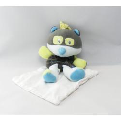 Doudou chien bleu mouchoir Cajou SUCRE D'ORGE