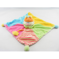 Doudou plat Clown multicolore couronne JOLLYBABY