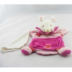 Doudou et compagnie marionnette souris rose Missie mouchoir