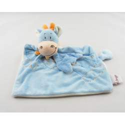 Doudou plat dragon bleu foulard orange BENGY