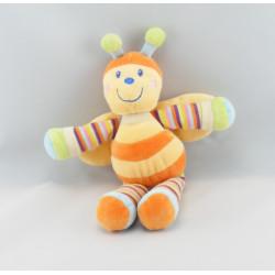 Doudou musical abeille orange jaune MOTS D'ENFANTS