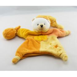 Doudou marionnette ours orange UN REVE DE BEBE BABY NAT