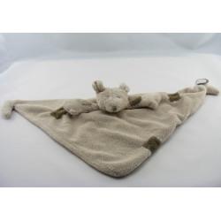 Doudou plat chien blanc gris FIFI DIMPEL