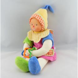 Doudou clown d'activités multicolore COROLLE
